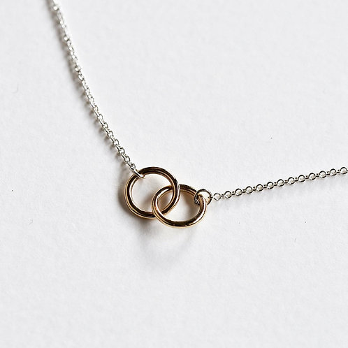 October 2020 - 9ct recycled gold and sterling silver loop necklace
