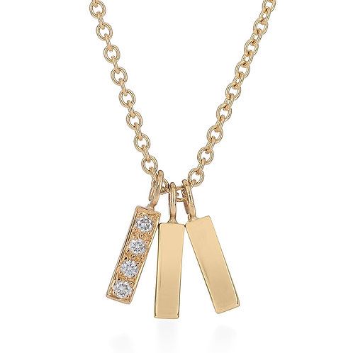 Triple Tower Necklace