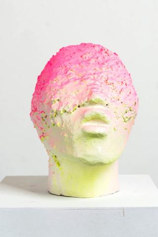 Untitled (pink-green head)