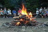 夏休み英語キャンプ_キャンプファイヤーの様子の写真