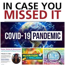Holistic Nutrition Webinar Series- COVID19-Recap- Q & A