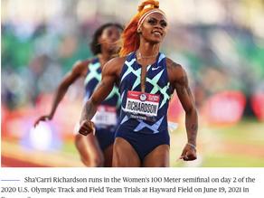 U.S. sprinter Sha'Carri Richardson suspended for one month after failed drug test