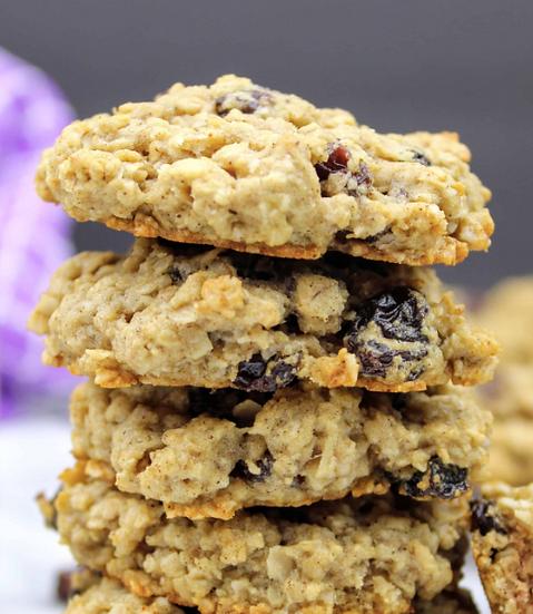 Chai Spiced Oatmeal Raisin Cookies