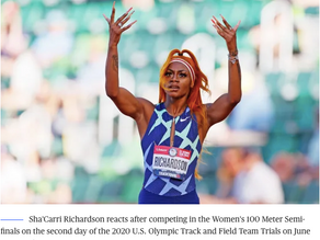 U.S. sprinter Sha'Carri Richardson not named to relay team, won't compete in Tokyo Olympics