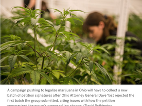 Ohio Attorney General Dave Yost rejects ballot language for marijuana legalization proposal