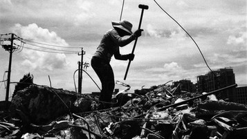 """Zhuan Tang, China  <Workers of the World> The people we look to to prop up any given society are the very ones that we rarely even see.       """"No society has any right to forget its workers, because they are the real heroes of the society.""""                                           - Mehmet Murat Ildan"""