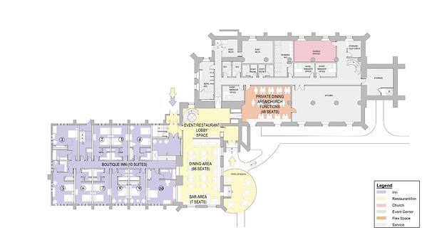 Ground Floor Cestry & Lower Level Church