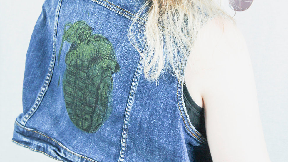 Heart Grenade Denim Vest
