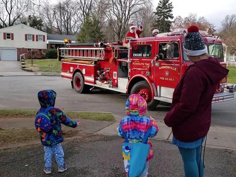 No Tree Sale, but a Socially-Distanced Santa as Harmonville Fire Co. Keeps Community Safe