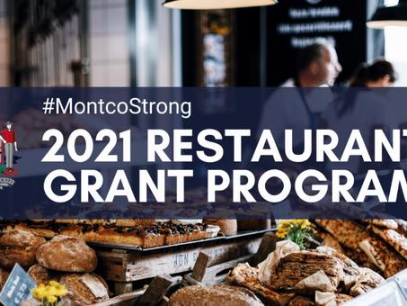Montco Launches 2021 Grant Program to Help Restaurants