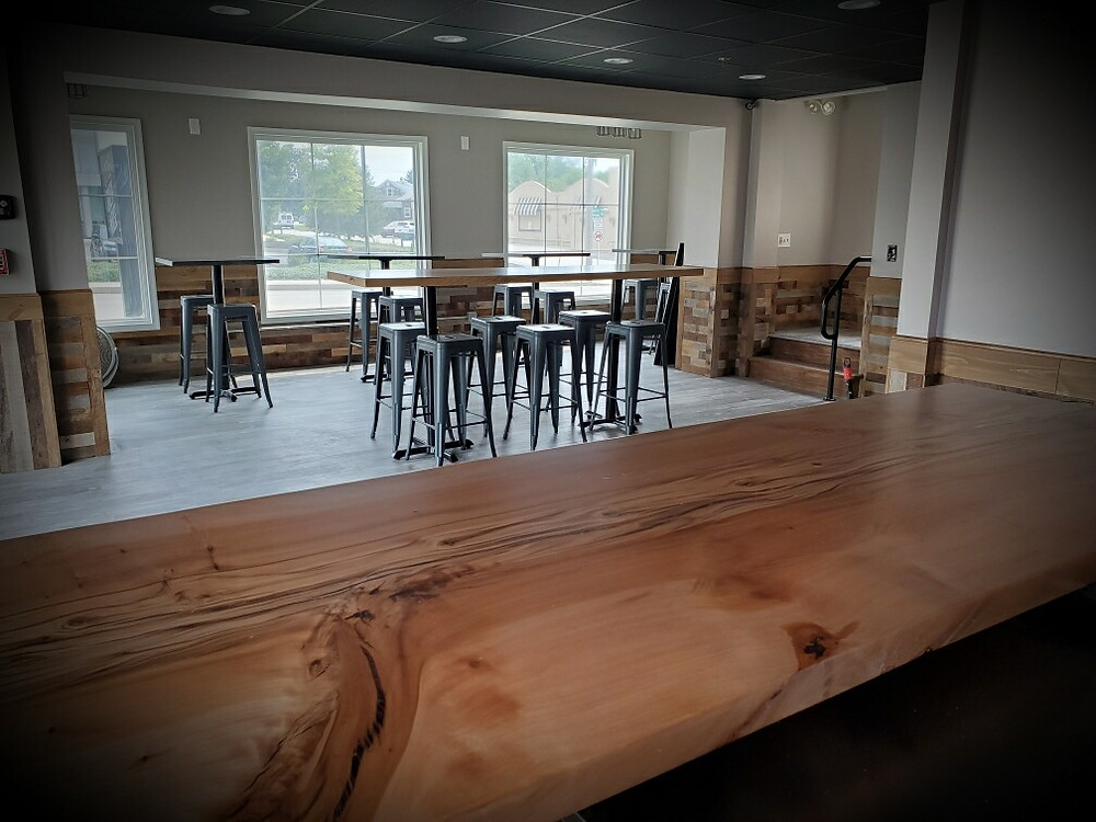 view of newly updated dining area of what will now be called Little Brew House