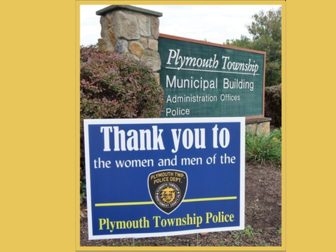 Updated Plymouth Police Support Signs Ready for Pick-Up at Township Building