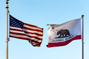 California Flag with symbols star and be