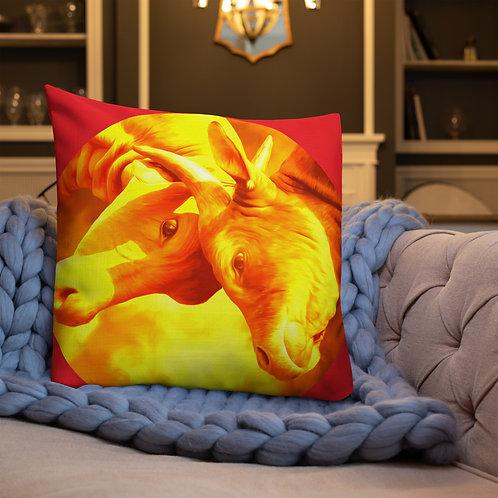 Golden Bulls Premium Pillow