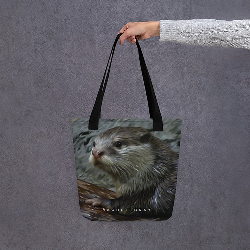 Asian Otter Tote bag