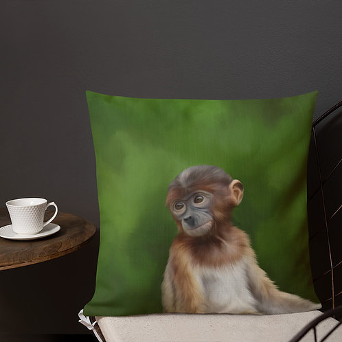 Proboscis Monkey Premium Pillow