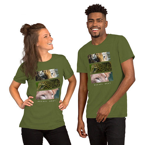 Wild Eyes Big Cat Short-Sleeve Unisex T-Shirt