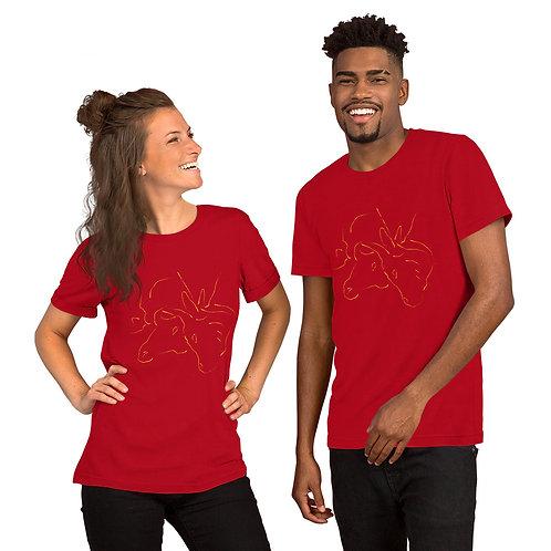 Bull Brush Short-Sleeve Unisex T-Shirt