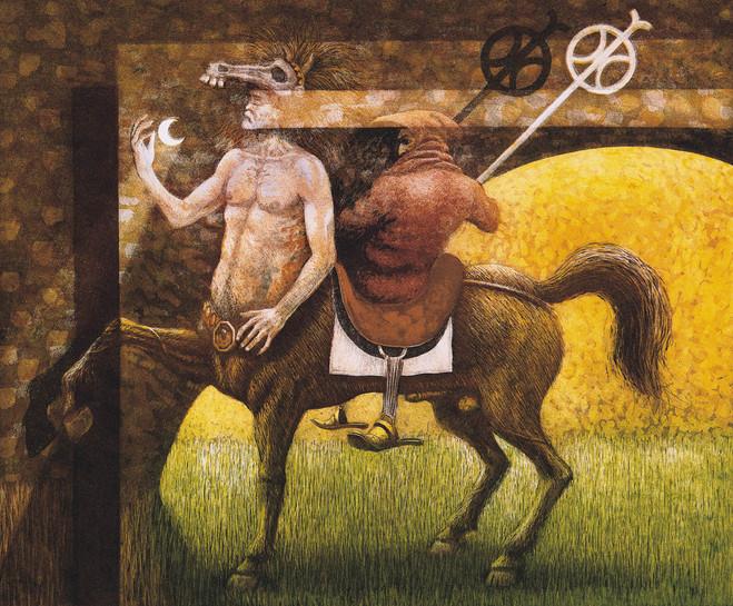 Centauro de la luna e inquisidor