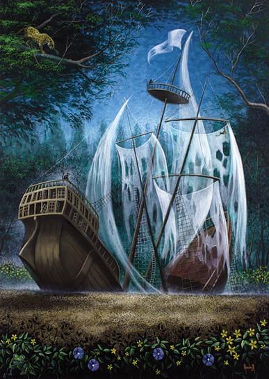Barco en la selva