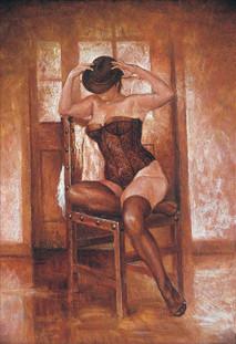 Mujer con corsé