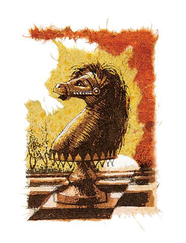 Caballito ajedrez Negro