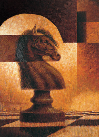 Diptych, Chess Knight