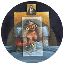 """Doña Cata con su gata"" (Doña Cata with her Cat)"