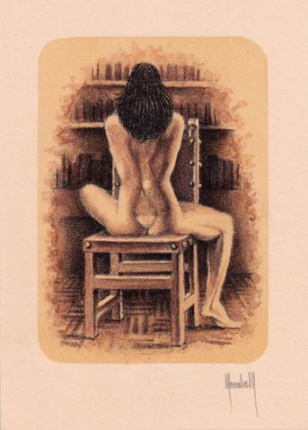 Desnuda de espaldas