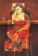 Mujer en la barra