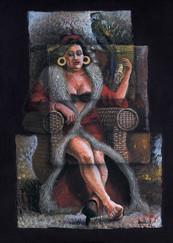 Eleonora con su lora