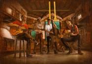 Músicos en el estudio