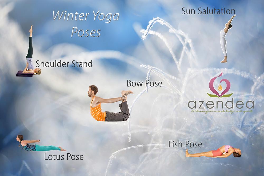 azendea winter yoga poses