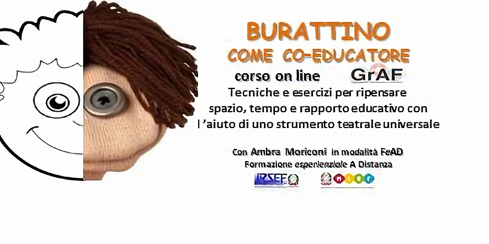 BURATTINO COME CO-EDUCATORE - formazione esperienziale ON LINE