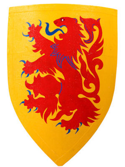Lion Crusader Shield - Red Lion on Yellow - AH3890