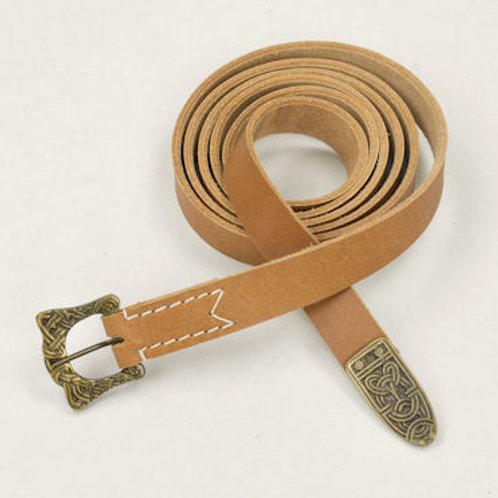 Natural Viking leather Belt