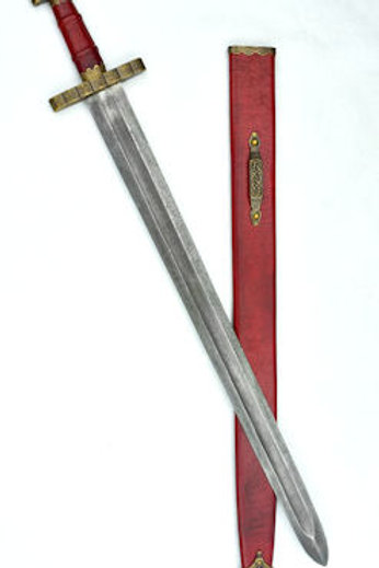 PRS414D Hedeby 9th Century Sword w/ Damascus blade