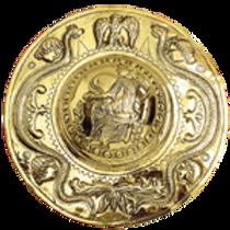 AH6755 Embossed Brass Shield Boss