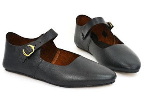 Buckled Medieval Shoes - Black (unisex) - LB25243