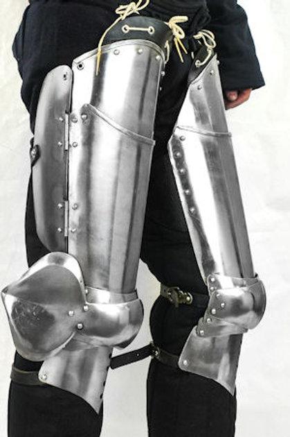 14th - 15th Century Gothic Leg Armor - 16 Gauge - SNSA9553P16