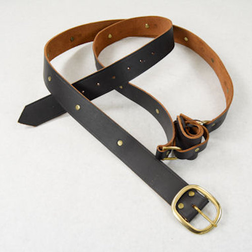 Brown Leather Double Wrap Sword Belt - SNLA6402BR