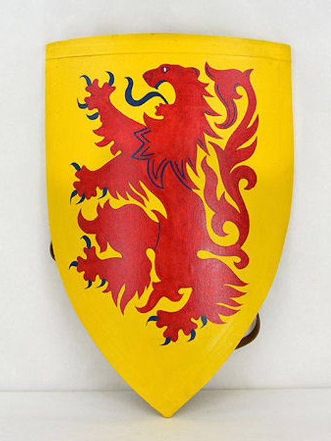 Yellow Shiled with Red Lion