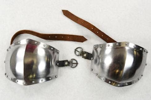 Knee Armor Set / Poleyns - 16 Gauge Steel - SNSA9577