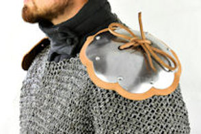 Shoulder Rondells - Mountable Upgrade for Chainmail and Padded Armor - 16 Gauge