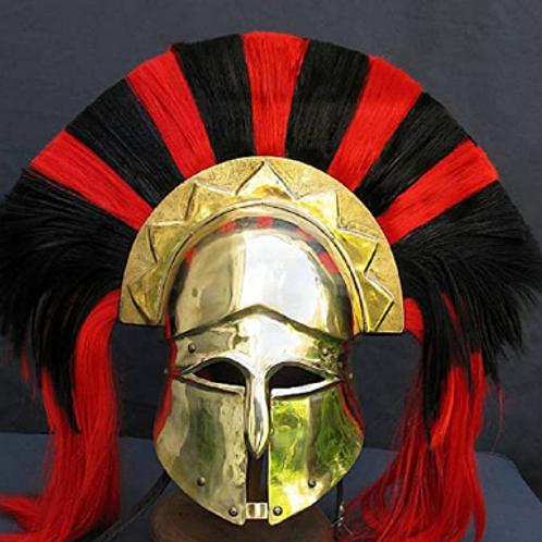 Spartan Corinthian Brass Helmet w/ Command Plume