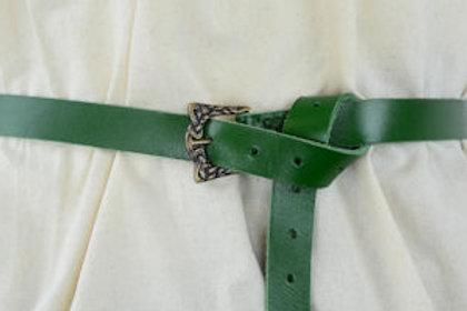Green Leather Viking Belt  LB25265