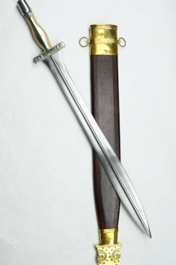 Greek Campovalano Xiphos with Composite Bone and Steel Hilt - AH4231