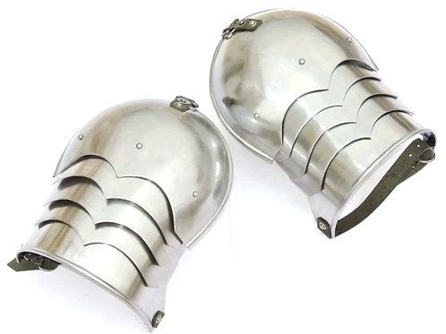 Medieval Pauldrons - 16 Gauge Steel - SNSA9212P16