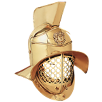 AH6203B Gladiator Brass Arena Helmet