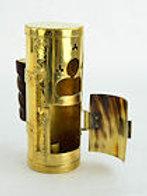 Brass Lantern with Hinged Horn Door - AH6279